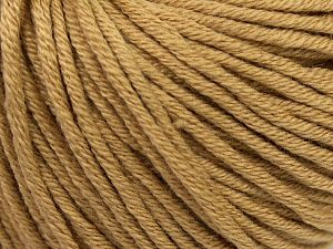 Fiber Content 50% Cotton, 50% Acrylic, Light Brown, Brand Ice Yarns, Yarn Thickness 3 Light  DK, Light, Worsted, fnt2-67143