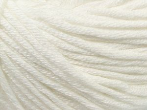 Fiber Content 50% Acrylic, 50% Cotton, White, Brand Ice Yarns, Yarn Thickness 3 Light  DK, Light, Worsted, fnt2-67144