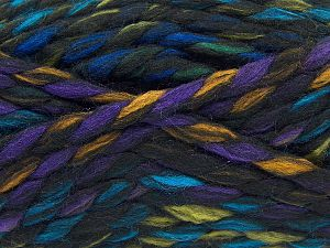 Fiber Content 75% Acrylic, 25% Wool, Rainbow, Brand Ice Yarns, Black, Yarn Thickness 6 SuperBulky  Bulky, Roving, fnt2-67145