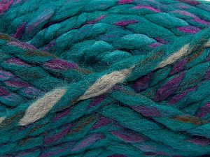 Fiber Content 75% Acrylic, 25% Wool, Turquoise Shades, Lilac, Brand Ice Yarns, Camel, Brown, Yarn Thickness 6 SuperBulky  Bulky, Roving, fnt2-67157