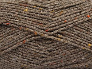Fiber Content 75% Premium Acrylic, 5% Viscose, 20% Wool, Brand Ice Yarns, Brown, Yarn Thickness 4 Medium  Worsted, Afghan, Aran, fnt2-67166