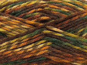 Fiber Content 75% Premium Acrylic, 25% Wool, Brand Ice Yarns, Green Shades, Brown Shades, Yarn Thickness 5 Bulky  Chunky, Craft, Rug, fnt2-67179