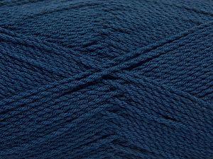 Fiber Content 100% Premium Acrylic, Brand Ice Yarns, Dark Navy, Yarn Thickness 2 Fine  Sport, Baby, fnt2-67220
