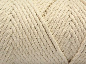 Fiber Content 100% Cotton, Brand Ice Yarns, Ecru, Yarn Thickness 6 SuperBulky  Bulky, Roving, fnt2-67237