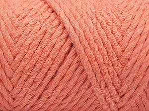 Fiber Content 100% Cotton, Light Salmon, Brand Ice Yarns, Yarn Thickness 6 SuperBulky  Bulky, Roving, fnt2-67242