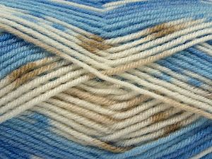 Fiber Content 75% Premium Acrylic, 25% Wool, White, Brand Ice Yarns, Brown Shades, Blue Shades, Yarn Thickness 3 Light  DK, Light, Worsted, fnt2-67255