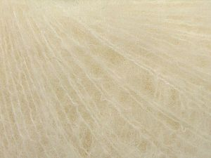 Fiber Content 5% Merino Wool, 41% SuperKid Mohair, 23% Polyamide, 23% Viscose, 2% Elastan, Brand Ice Yarns, Ecru, fnt2-67262