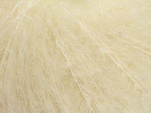 Fiber Content 41% Alpaca Superfine, 41% Kid Mohair, 2% Elastan, 16% Nylon, Brand Ice Yarns, Ecru, fnt2-67287