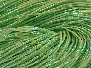 Please note that this is a hand-dyed yarn. Colors in different lots may vary because of the charateristics of the yarn. Also see the package photos for the colorway in full; as skein photos may not show all colors. Fiber Content 60% Metallic Lurex, 40% Cotton, Neon Green, Brand Ice Yarns, fnt2-67299