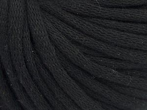 This is a tube-like yarn with soft cotton fleece filled inside. Fiber Content 70% Cotton, 30% Polyester, Brand Ice Yarns, Black, Yarn Thickness 5 Bulky  Chunky, Craft, Rug, fnt2-67301