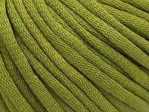 This is a tube-like yarn with soft cotton fleece filled inside. Fiber Content 70% Cotton, 30% Polyester, Brand Ice Yarns, Dark Green, Yarn Thickness 5 Bulky  Chunky, Craft, Rug, fnt2-67318