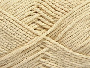Fiber Content 100% Cotton, Brand Ice Yarns, Dark Cream, Yarn Thickness 4 Medium  Worsted, Afghan, Aran, fnt2-67328