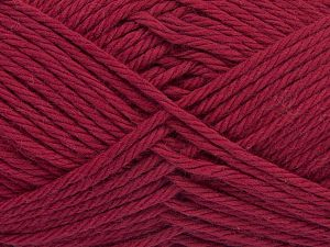 Fiber Content 100% Cotton, Brand Ice Yarns, Burgundy, Yarn Thickness 4 Medium  Worsted, Afghan, Aran, fnt2-67331