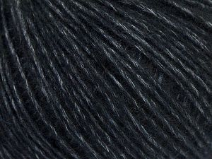 Fiber Content 66% Merino Wool, 34% Organic Cotton, Brand Ice Yarns, Black, Yarn Thickness 3 Light  DK, Light, Worsted, fnt2-67381