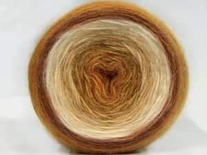Fiber Content 60% Premium Acrylic, 20% Wool, 20% Mohair, Brand Ice Yarns, Cream Shades, Brown Shades, fnt2-67394