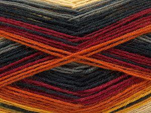 Fiber Content 75% Superwash Wool, 25% Polyamide, Brand Ice Yarns, Grey Shades, Gold Shades, Burgundy, Beige, Yarn Thickness 1 SuperFine  Sock, Fingering, Baby, fnt2-67413