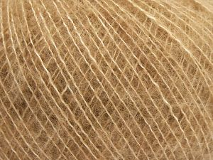 Fiber Content 66% Extrafine Merino Wool, 18% Polyamide, 16% Cotton, Light Brown, Brand Ice Yarns, Yarn Thickness 1 SuperFine  Sock, Fingering, Baby, fnt2-67425