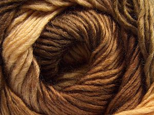 Fiber Content 50% Wool, 50% Acrylic, Brand Ice Yarns, Cream, Brown Shades, fnt2-67459