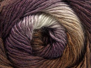 Fiber Content 50% Wool, 50% Acrylic, White, Purple, Brand Ice Yarns, Brown, fnt2-67460