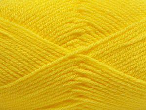 Worsted Fiber Content 100% Acrylic, Yellow, Brand Ice Yarns, fnt2-67466