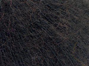 Fiber Content 36% Polyamide, 31% Extrafine Merino Wool, 30% Baby Alpaca, 3% Elastan, Brand Ice Yarns, Black, fnt2-67469