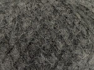 Fiber Content 36% Polyamide, 31% Extrafine Merino Wool, 30% Baby Alpaca, 3% Elastan, Brand Ice Yarns, Dark Grey, fnt2-67471