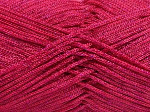 Width is 2-3 mm Fiber Content 100% Polyester, Brand Ice Yarns, Fuchsia, fnt2-67490
