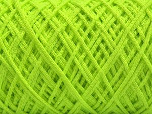 Please be advised that yarn iade made of recycled cotton, and dye lot differences occur. Fiber Content 100% Cotton, Neon Green, Brand Ice Yarns, fnt2-67535