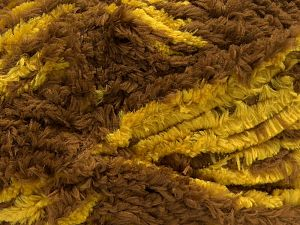 Fiber Content 100% Micro Fiber, Yellow, Brand Ice Yarns, Brown, fnt2-67540