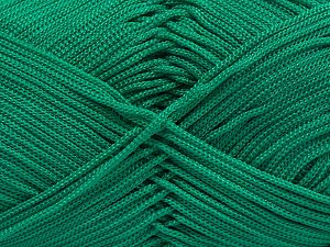 Width is 2-3 mm Fiber Content 100% Polyester, Brand Ice Yarns, Emerald Green, fnt2-67572