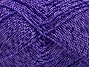 Width is 2-3 mm Fiber Content 100% Polyester, Lilac, Brand Ice Yarns, fnt2-67576