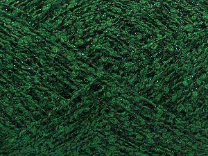 Fiber Content 70% Cotton, 17% Polyester, 13% Metallic Lurex, Brand Ice Yarns, Green, Black, fnt2-67581