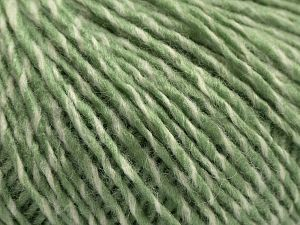 Fiber Content 80% Acrylic, 6% Polyester, 14% Wool, Light Green, Brand Ice Yarns, Cream, fnt2-67589