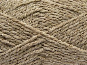Fiber Content 67% Acrylic, 30% Wool, 3% Metallic Lurex, Light Camel, Brand Ice Yarns, fnt2-67618