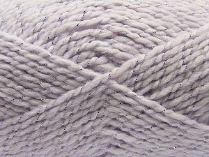 Fiber Content 67% Acrylic, 30% Wool, 3% Metallic Lurex, Light Lilac, Brand Ice Yarns, fnt2-67620
