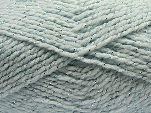 Fiber Content 67% Acrylic, 30% Wool, 3% Metallic Lurex, Brand Ice Yarns, Baby Blue, fnt2-67621
