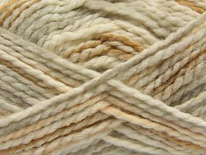 Fiber Content 70% Acrylic, 30% Wool, Light Salmon, Light Grey, Light Brown, Brand Ice Yarns, Cream, fnt2-67622