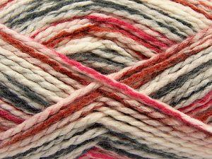 Fiber Content 70% Acrylic, 30% Wool, Brand Ice Yarns, Fuchsia, Dark Grey, Cream, Copper, fnt2-67624