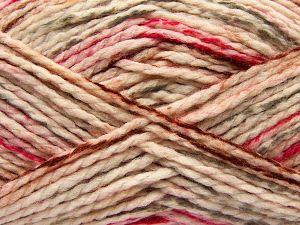 Fiber Content 70% Acrylic, 30% Wool, Brand Ice Yarns, Grey, Fuchsia, Cream, Copper, fnt2-67625