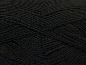 Cold Rinse. Short spin. Do not wring. Cool iron under damp cloth. Cool tumble dry. Dry cleanable. Do not bleach. Fiber Content 65% Wool, 20% Acrylic, 15% Polyamide, Brand Ice Yarns, Black, fnt2-67632