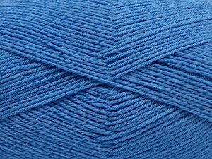 Cold Rinse. Short spin. Do not wring. Cool iron under damp cloth. Cool tumble dry. Dry cleanable. Do not bleach. Fiber Content 65% Wool, 20% Acrylic, 15% Polyamide, Light Blue, Brand Ice Yarns, fnt2-67635