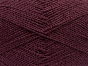 Cold Rinse. Short spin. Do not wring. Do not iron. Dry cleanable. Do not bleach. Fiber Content 65% Acrylic, 35% Wool, Maroon, Brand Ice Yarns, fnt2-67643