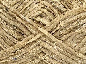 Fiber Content 85% Polyester, 15% Metallic Lurex, Light Camel, Brand Ice Yarns, Gold, fnt2-67662