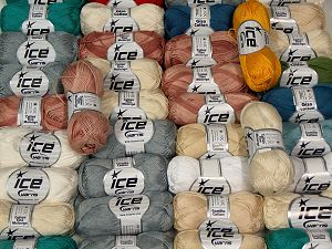 Cotton Types In this list; you see most recent 50 mixed lots. <br> To see all <a href=&/mixed_lots/o/4#list&>CLICK HERE</a> (Old ones have much better deals)<hr> Brand Ice Yarns, fnt2-67694