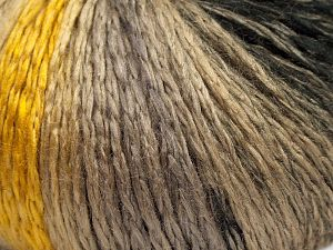 Fiber Content 100% Acrylic, Brand Ice Yarns, Gold, Camel, Black, Beige, fnt2-67735