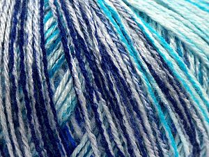 Fiber Content 100% Acrylic, White, Turquoise Shades, Purple, Brand Ice Yarns, fnt2-67736