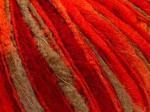 Fiber Content 100% Acrylic, Neon Orange, Brand Ice Yarns, Dark Red, Camel, fnt2-67738