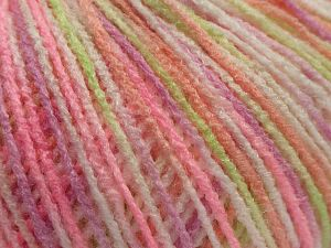 Fiber Content 100% Acrylic, White, Pink Shades, Light Green, Brand Ice Yarns, fnt2-67742
