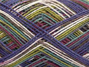Fiber Content 100% Acrylic, Turquoise, Purple, Maroon, Brand Ice Yarns, Green, fnt2-67744