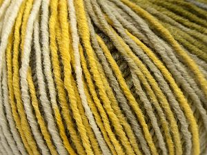 Fiber Content 70% Acrylic, 30% Wool, Yellow Shades, White, Brand Ice Yarns, Green, fnt2-67751